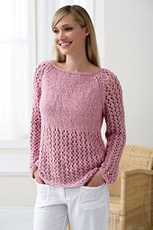 Ravelry: Raglan Lace pattern by Bernat Design Studio