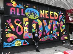 - Completed mural on Queens Blvd / Bliss St. (How perfect is that street name?) in SunnySide. Thank you to all the residents of SunnySide who stopped to say hello and for all the excitement about t Murals Street Art, Graffiti Art, Kobra Street Art, Deco Studio, School Murals, Best Street Art, Paris Ville, Mural Wall Art, Art And Technology
