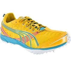SALE - Womens Puma 18484405 Athletic Cleats Yellow Mesh - Was $65.00 - SAVE $30.00. BUY Now - ONLY $35.00