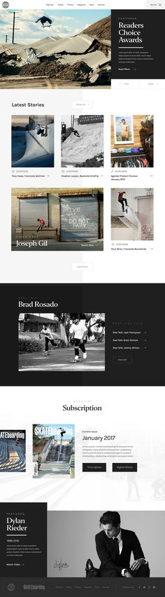 Transworld Skateboarding (Free PSD) by Nathan Riley at Green Chameleon
