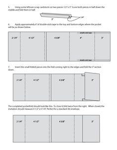 DIY Wedding Challenge: 2-Panel Pocketfold Invitations from Scratch - Project Wedding