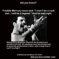 Freddie Mercury was fucking great. Queen.