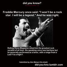 Freddie Mercury was fucking great. Queen.
