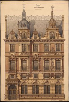 Residential and commercial building – Drawing Ideas Neoclassical Architecture, Baroque Architecture, Classic Architecture, Architecture Drawings, Historical Architecture, Beautiful Architecture, Architecture Details, Landscape Architecture, House Architecture