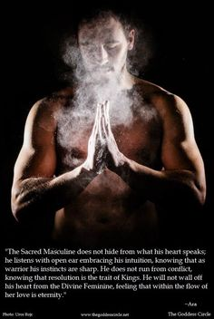 Sacred Masculine Magick Ideals for Shiro. Sacred Feminine, Divine Feminine, Male Witch, Masculine Energy, Tantra, Gods And Goddesses, Book Of Shadows, Wiccan, Witchcraft