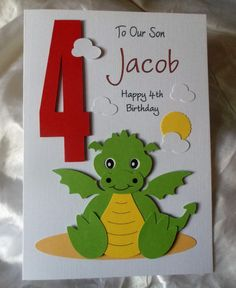 Personalised 1st 2nd 3rd Any Age Dragon Birthday Card You Cards Happy