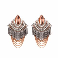 Champagne Zircon Bohemian Evening Cocktail Evening Jewelry Earrings SKU-10803447