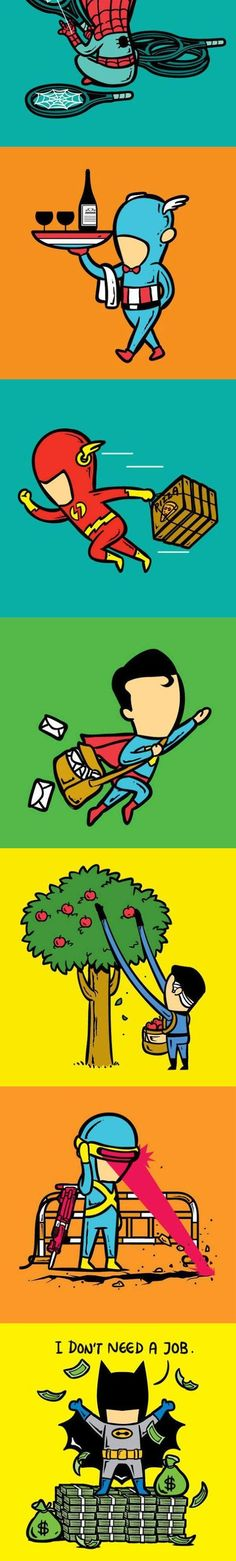 Funny Superhero Part Time Job