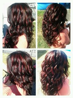 This looks awesome only if my hair was darker Red highlights on brown hair color