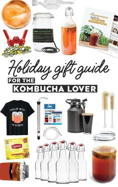 Whether they're new to kombucha brewing or a seasoned pro, here are kombucha gifts for every kind of home brewer. #kombucha #giftguide #homebrewing #cultures #fermentation