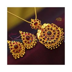 Reddish Yellow Plated Kempu Stones Fancy Drops Gold Imitation Pendant Sets Online Recently the trend in real gold jewellery is reddish yellow gold color. Same trend applied in imitation jewellery too. Height of the pendant is 60 mm and width is Yellow Plates, Real Gold Jewelry, Imitation Jewelry, Pendant Set, Chain Pendants, Crochet Earrings, Plating, Perfume, Fancy