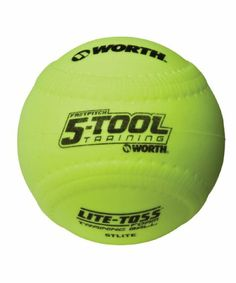 Worth 5Tool 5TLite Foam Training Ball (Yellow, 12-Inch)(Pack of 12) - http://www.closeoutball.com/softball-closeout-sale-discount-free-shipping/worth-5tool-5tlite-foam-training-ball-yellow-12-inchpack-of-12/