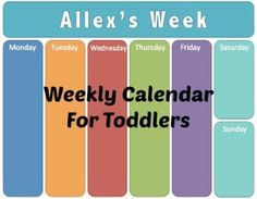 How To Make a Weekly Calendar For Toddlers