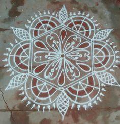 Rangoli Designs With Dots, Beautiful Rangoli Designs, Kolam Rangoli, Simple Rangoli, Floor Art, Things To Do, Mandala, Creative, Places