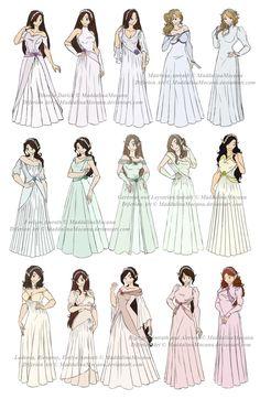 Платье н Одежда Дизайн: P5 2/2 Свадьба (Радуга) на MaddalinaMocanu