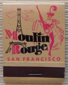 Moulin Rouge #Matchbook #burlesque Order your business' own logo #matches from GetMatches.com