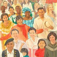 Pessoas de todas as nações unidas por um governo mundial