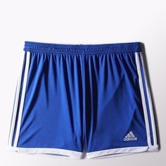 adidas Tastigo 15 Knit Shorts Blue (33 AUD) ❤ liked on Polyvore featuring activewear, activewear shorts, athletic sportswear, adidas, adidas sportswear and adidas activewear