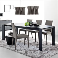 calligaris omnia glass 180 extending table by studio tecnico calligaris, London Designer Furniture