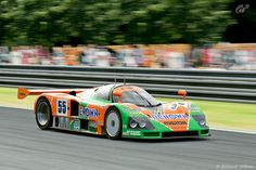 "Mazda 787B Group C Prototype Sports Car. Winner at Le Mans in 1991. Said to sound like ""a thousand cats being stung by a thousand bees."""