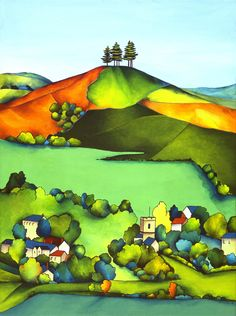 Marion Taylor.  Beneath Colmers Hill via Colmer's Hill - one artist's obsession.. Click on the image to see more!