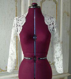 Bridal Lace bolero Custom 3/4 or Long by GlorybyJeannieLee