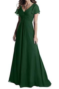 Ivydressing V-Neck Short Sleeve Cocktail Gowns Ruched Mot...