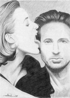 Scully and Mulder by dheck on DeviantArt Scully, Tv Guide, Fantasy Art, Movie Tv, Cinema, Fan Art, Deviantart, Sketches, Image