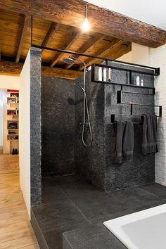 Freek architecten ModernBathrooms is part of Bathroom design - Bathroom Interior, Modern Bathroom, Interior Design Living Room, Living Room Designs, Nature Bathroom, Master Bathrooms, Small Bathroom, Bad Inspiration, Bathroom Inspiration