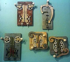 Steampunk light switch covers. http://www.paperdreamsfairhaven.com/