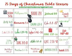 Read through the birth of Jesus with this fun printable! Use it as an Advent calendar, or simply a way to celebrate the true meaning of Christmas. --> D