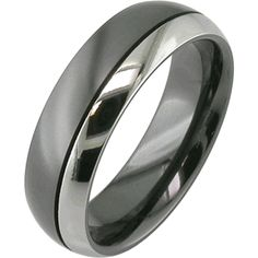 Twin Color Black Zirconium Ring, Black Zirconium Rings - Titanium-Buzz.com