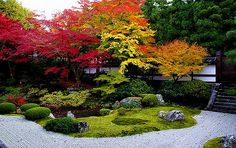 Sueomunji temple garden in autumn Modern Japanese Garden, Japanese Garden Landscape, Japanese Gardens, Amazing Gardens, Beautiful Gardens, Temple Gardens, Japan Garden, Garden Landscape Design, Front Yard Landscaping