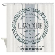Vintage French Lavender Shower Curtain on CafePress.com