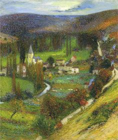 Labastide du Vert, Morning Affect, Henri Martin (French impressionist painter)