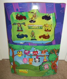 McDonald's TMNT Teenage Mutant Ninja Turtles Toy Display Perfect Condition!!