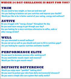 AdvoCare | The 24 Day Challenge is for everyone!