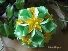 Origami ❀ Sweet Spring ❀ Kusudama -Designer: Natalia Romanenko