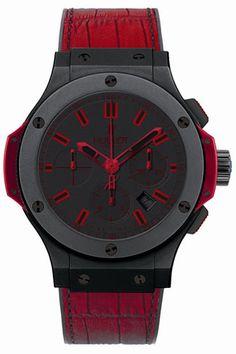 Hublot Big Bang Black Dial Red Leather Strap Mens Watch 322-CI-1130-GR-ABR-10  $10,999.00