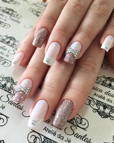39 Ideas For Nails Design Winter Ongles Winter Nail Designs, Nail Art Designs, Nails Design, Nude Nails, Acrylic Nails, Hair And Nails, My Nails, Luxury Nails, Manicure E Pedicure