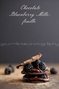 An all chocolate mille-feuille with a filling of berries and a rich chocolate ganache.
