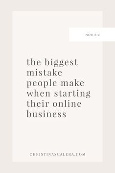 Are you starting a new online business? Don't get caught making these mistakes. As an attorney, here is the biggest mistake people make when starting their online business - Christina Scalera Business Advice, Business Entrepreneur, Business Marketing, Content Marketing, Affiliate Marketing, Successful Online Businesses, Instagram Tips, Blogging For Beginners, Make Money Blogging