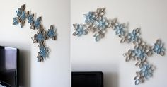 I really like the blue and natural look better. I have seen this as black before. I must try this!! <3  Imperfectly Perfect- Life as I see it: Home Work - The TP Flower Project