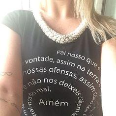 #mulpix Nossa queridinha!!!! Pai nosso Preta!!! R$ 129,90  Enviamos pra vc!!!!  #modafeminina #camisetaspersonalizadas #fashion #customização #tshirt #tshirtlinda #tee #camiseta #tshirts #tshirtperola #tshirtbordada