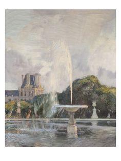 Gaston de la Touche | A Water Fountain in the Tuileries
