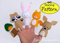 Digital Pattern: Woodland Creatures 02 Felt Finger Puppets                                                                                                                                                                                 Mais