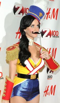 Katy Perry dressed as a Toy Solider during a holiday concert.