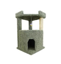 Corner Roost Cat Condo Color: Green *** Discover this special cat product, click the image : Cat tower