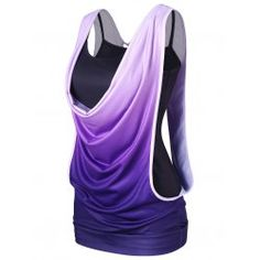 Ombre Cut Out Two Piece Tank Top - Purple Xl Regular Spandex Outfits Plus Size, Trendy Outfits, Cool Outfits, Fashion Outfits, Womens Fashion, Cute Clothes For Women, Casual Tops For Women, Athleisure, Cheap Tank Tops