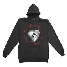 Rise Against Caution Hoodie - Rock out with this Rise Against Caution Hoodie Size Medium! This product is a High quality Rise Against pullover hoodie, 80% ring-spun cotton, 20% Polyester, 5% spandex on cuffs and waistband, jersey lined hood and drawstring, split muff pocket.